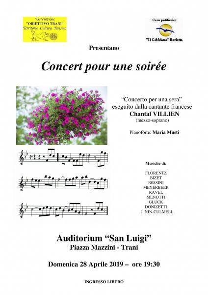 Concert pour une soirée
