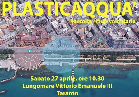 Raccolta Rifiuti Volontaria presso Rotonda Lungomare - Plasticaqquà Taranto