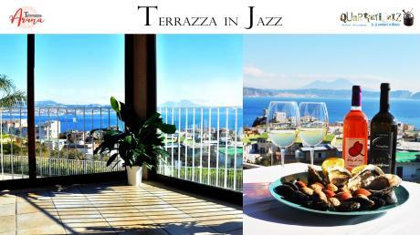 """""""TERRAZZA IN JAZZ"""" Musica, Cibo e Vino sul golfo di Bacoli con Quartieri Jazz Ensemble in concerto"""