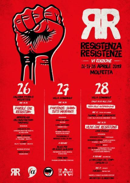 FESTIVAL RESISTENZA E RESISTENZE SESTA EDIZIONE