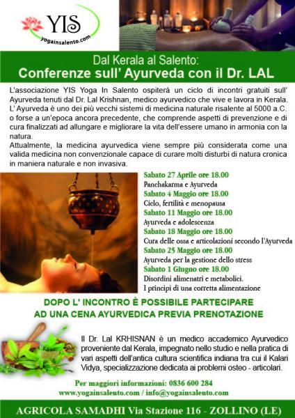 Dal Kerala al Salento: conferenze gratuite sull' Ayurveda