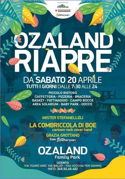 Riapre il Parco Ozeland. Sabato 20 Aprile grande inaugurazione.