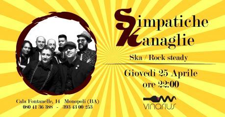 """Giovedi 25/04 sul palco del Vinarius gli  """"Simpatiche Kanaglie """""""