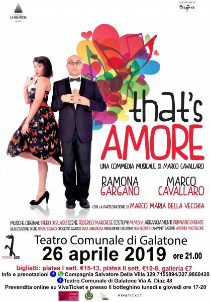 That's Amore commedia musicale di e con Marco Cavallaro