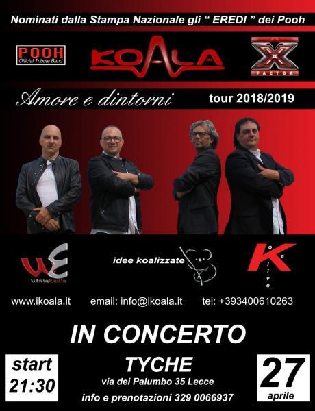 Koala Tribute Band dei Pooh al Tyche di Lecce