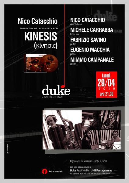 Presentazione del nuovo album di Nico Catacchio - KINESIS (κίνησις)