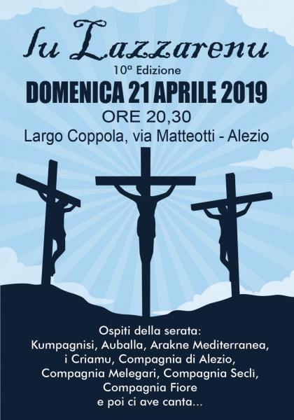 Lu Lazzarenu 10° edizione ad Alezio