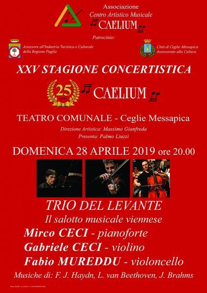 XXV STAGIONE CONCERTISTICA- ASSOCIAZIONE CAELIUM