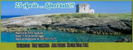 25 Aprile, Liberi Tutti! Torre Guaceto dalla terra al mare