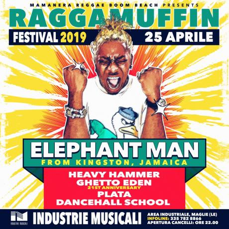 Elephant Man live alle Industrie Musicali