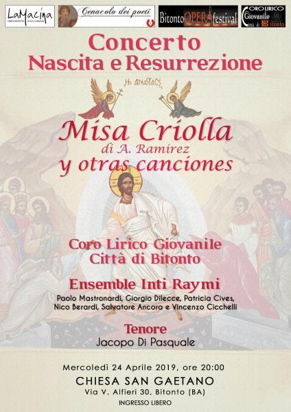 """Concerto Nascita e Risurrezione """"Misa Criolla y otras canciones"""""""