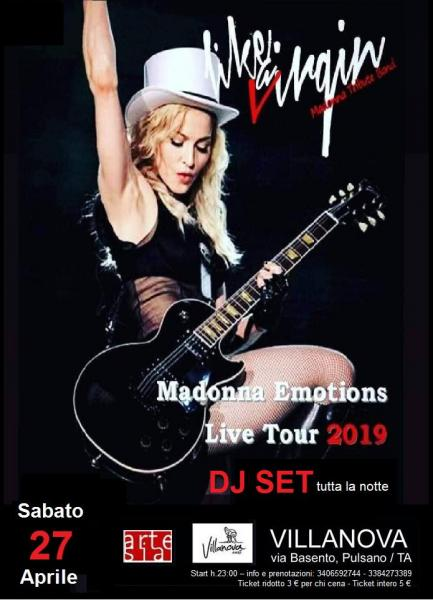Like a Virgin / tributo alla pop star Madonna + Dj Set