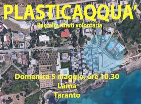 Raccolta rifiuti volontaria presso costa di Lama - Plasticaqquà Taranto
