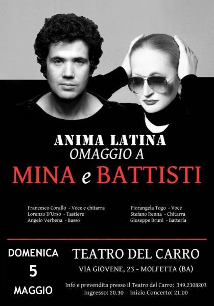 """Omaggio a Mina e Lucio Battisti con gli """"Anima Latina"""""""