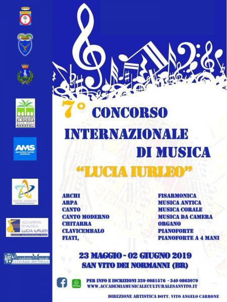 """7° CONCORSO INTERNAZIONALE DI MUSICA """"LUCIA IURLEO"""""""