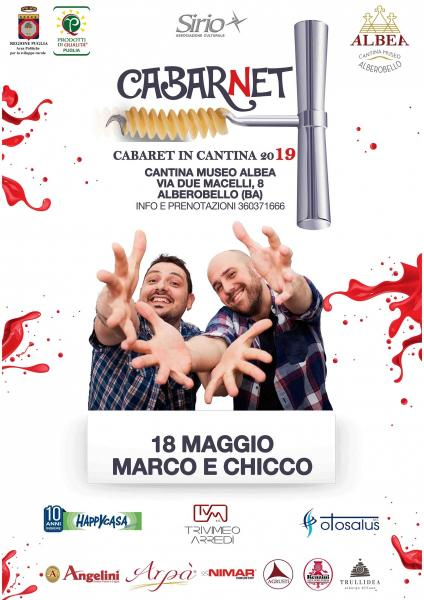 MARCO E CHICCO - CABARNET IN CANTINA