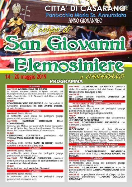 Festa patronale di San Giovanni Elemosiniere