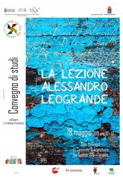 La lezione di Alessandro Leogrande, convegno nazionale