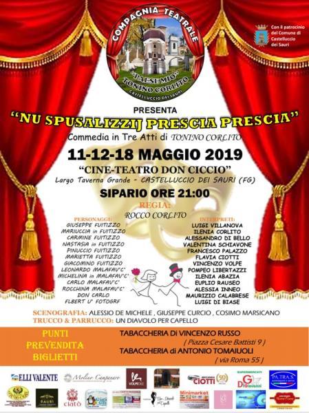 """""""Nu spusalizzij prescia prescia"""": commedia in tre atti di Tonino Corlito"""