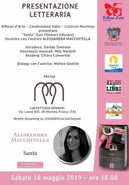 Santa - Incontro con l'autrice Alessandra Macchitella