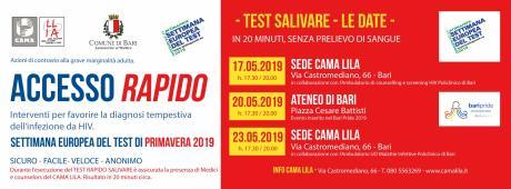 Tutta l'Europa fa il test! Dal 17 al 24 Maggio 2019 la European Testing week di primavera per HIV ed epatiti.