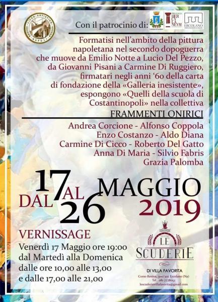 Mostra Collettiva di arte contemporanea  Frammenti Onirici presso  Le Scuderie di Villa Favorita