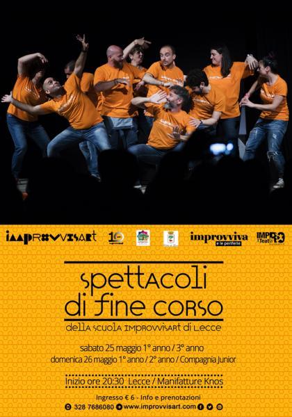 Spettacoli di fine corso della Scuola Improvvisart di Lecce