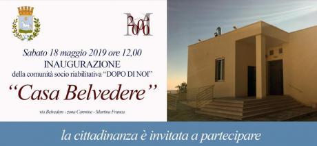 """Inaugurazione """"Casa Belvedere"""""""