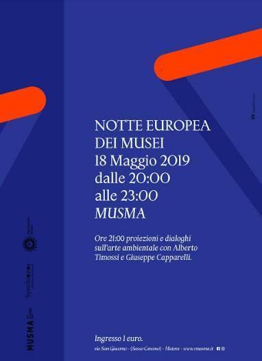Notte europea dei Musei anche al MUSMA