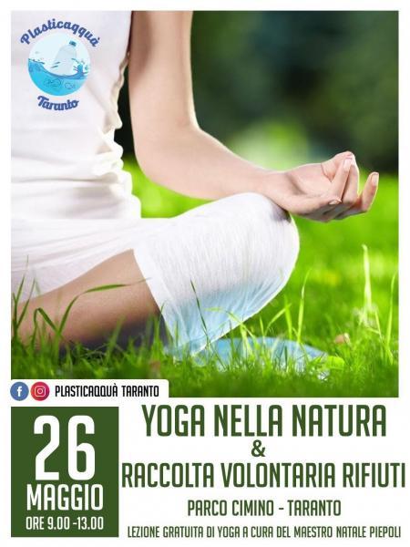 Lezione gratuita di yoga e Raccolta Rifiuti a Parco Cimino