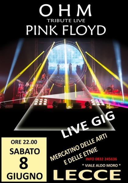 OHM PINK FLOYD SHOW - Lecce - Mercatino delle Arti e delle Etnie