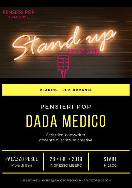 Pensieri Pop di Dada Medico [Reading - performance]