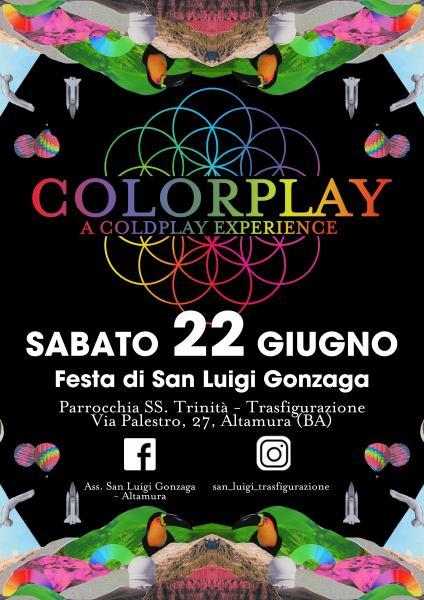 COLORPLAY live alla Festa di San Luigi Gonzaga