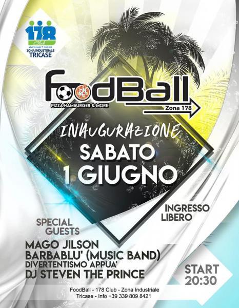 Barbablù + djset all'opening  Foodball