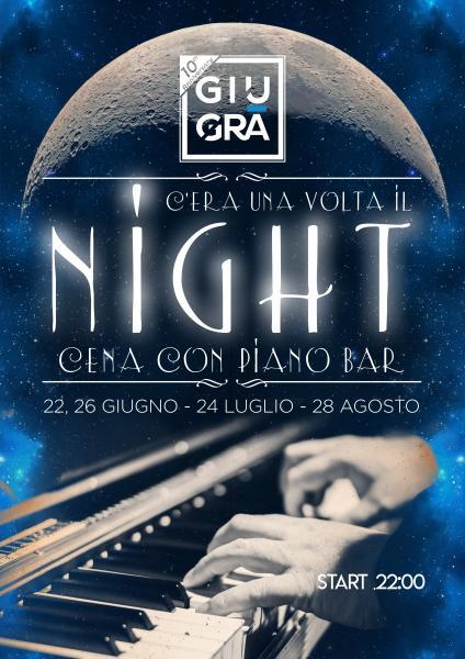 """Cena con Piano Bar del Maestro Giovanni Specchia """"C'era una volta il night"""""""