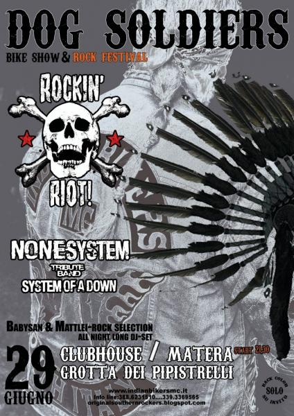 "22° ""DOG SOLDIERS Bike Show & Rock Festival"" INDIAN BIKERS MC MOTHER MATERA"