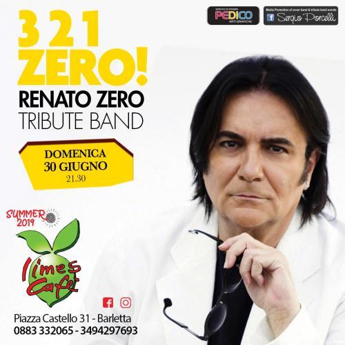 3 2 1 Zero tribute band Renato Zero a Barletta