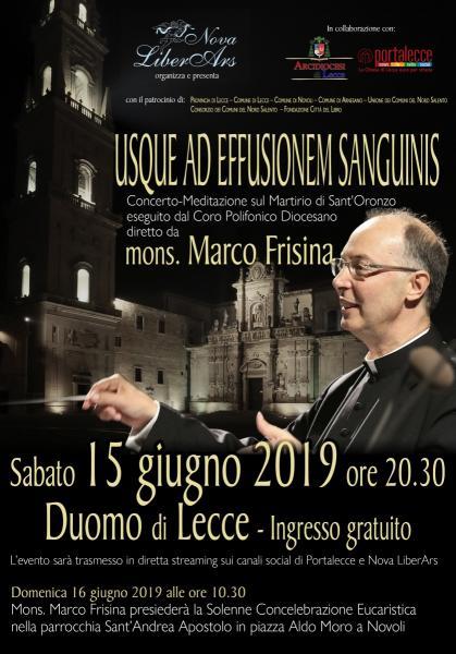 Usque ad effusionem sanguinis - Concerto meditazione diretto da Mons. Marco Frisina