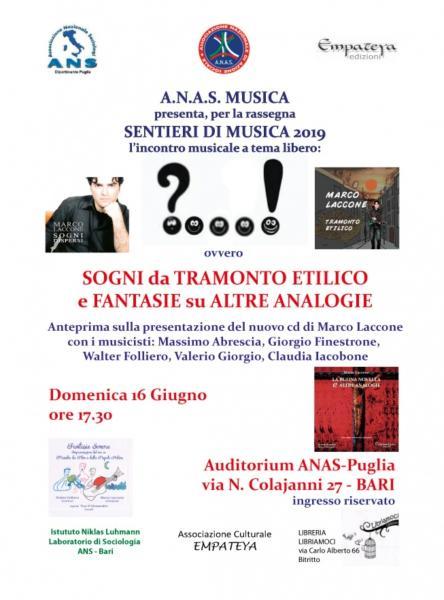 Anas presenta sentieri di musica 2019