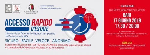 ACCESSO RAPIDO D'ESTATE - Interventi per favorire la diagnosi dell'infezione da HIV