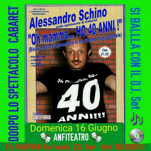 1° Spettatacolo di Cabaret con Alessandro Schino all'ANFITEATRO c/o Sharivari