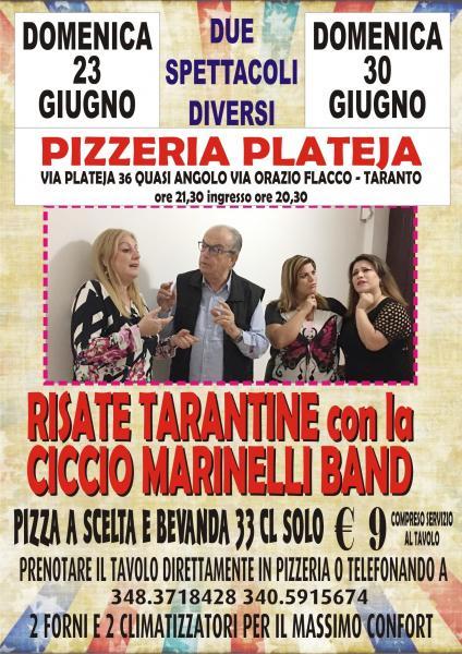Ritorna il cabaret di Ciccio Marinelli In Pizzeria la domenica sera