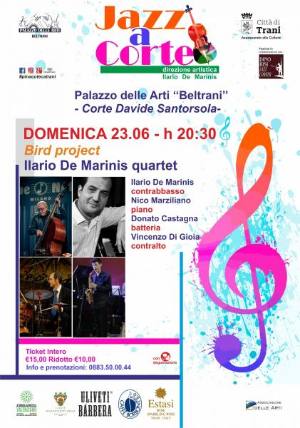 Bird project Ilario de Marinis quartet Jazz a Corte