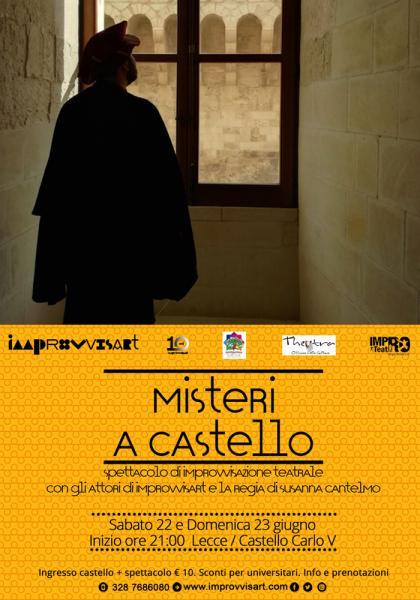 """""""Misteri a Castello"""", spettacolo di Improvvisazione Teatrale in abiti d'epoca"""