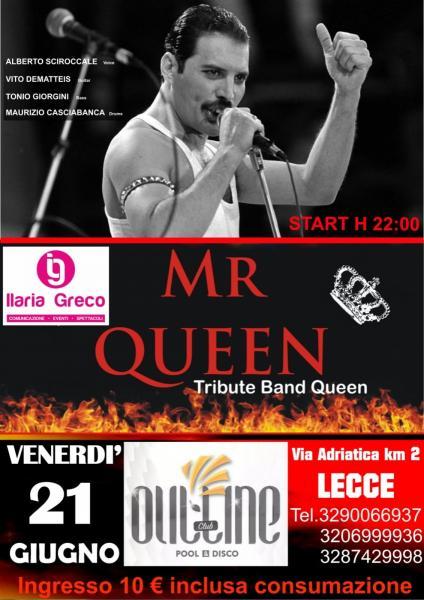 Inaugurazione live Outline Pool & Disco con i MR QUEEN Tribute Band Queen