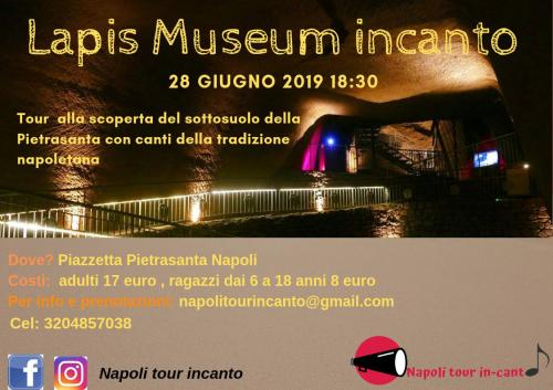 Lapis museum incanto- tour cantato nei sotterranei della Pietrasanta