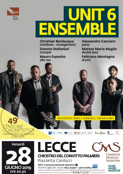 Unit Six Ensemble si esibisce a Lecce