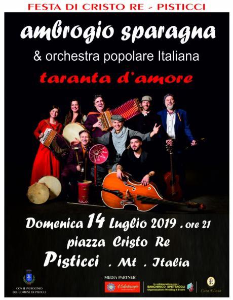 Festa di CRISTO RE - PISTICCI - AMBROGIO SPARAGNA & Orchestra Popolare Italiana