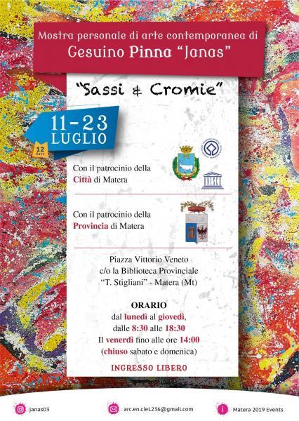 "Mostra personale ""Sassi & Cromie"" di Gesuino Pinna"