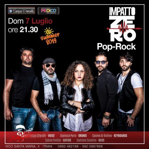 Impatto Zero - Pop rock live band a Trani - Estate 2019
